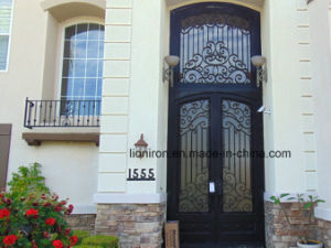 Best Hand Made Wrought Iron Exterior Doors for House pictures & photos