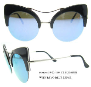 New Fashion Vintage Cat Eye Women Sunglasses Metal Arm Sunglasses pictures & photos