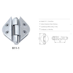 Shower Door Hardware Stainless Steel Glass Clamp (B11-1) pictures & photos