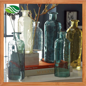 Glass Bottle Flower Vase for Home Decoration pictures & photos