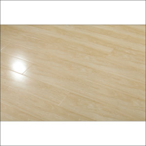 Real Wood Texture HDF Glossy Laminate Flooring (yellow color) pictures & photos