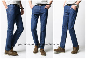 China Manufacturer Selling High Quality Men′s Straight Wild Jeans pictures & photos