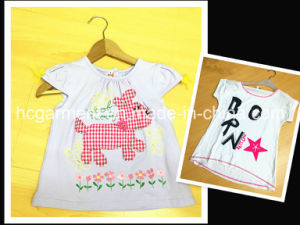 Kids Wear Lovely White Cartoon Cotton Shirt for Girl /Boy pictures & photos