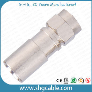 F Compression Connector for RF Coaxial Cable Rg59 RG6 Rg11 (F043) pictures & photos