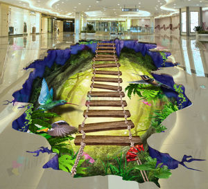 Customized Printing 3D Floor Advertising/Promotion Wall Stickers pictures & photos