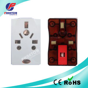 UK Three Pin Power Adaptor Plug to Multi Socket pictures & photos