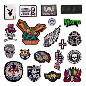 Male Sleeve Embroidery Patches Masculine Embroidered Latest Backpack Badge Patch pictures & photos