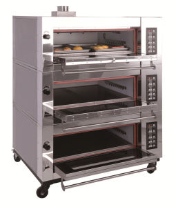 Three Compartment Gas Deck Oven for Bread Pizza pictures & photos