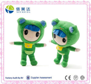 35cm Lovely Green Frog Dress Baby Plush Baby Toy pictures & photos