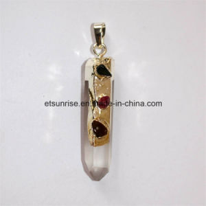 Semi Precious Stone Fashion Natural Crystal Gold Plating Pendant pictures & photos