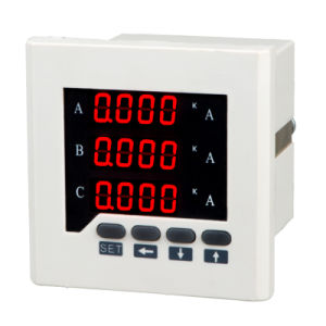 Three-Phase AC Current Meter Digital Ammeter LED Three Row Display pictures & photos