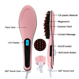 Electric LCD Hair Straightener Brush pictures & photos