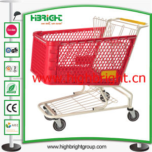 China Factory Plastic Supermarket Shopping Trolley pictures & photos