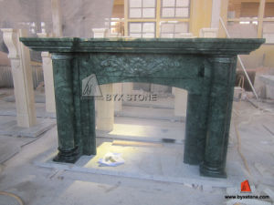 Indian Verde Alpi Marble Indoor Fireplace for Home Decoration pictures & photos