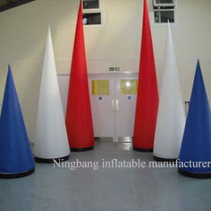 New Product Inflatable Pillar Cone with LED Light for Decoration
