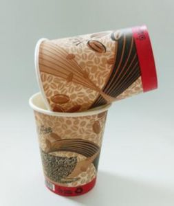 Cold Drinking Paper Cup with Lid&Straw pictures & photos