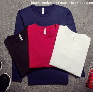 96%Polyester Men′s Long Sleeve Blank T-Shirts pictures & photos