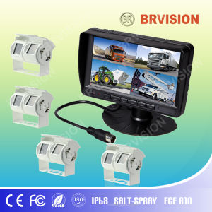 Vehicle Waterproof Reversing System/7 Inch Digital Monitor/Dual Lens Camera pictures & photos