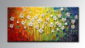 Modern New Knife Style Flower Oil Painting (KVF-011) pictures & photos