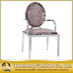 Hot Selling Stainless Steel Armrest Dining Chair pictures & photos