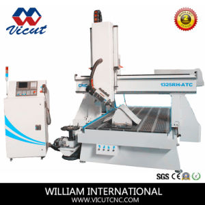 Multifunction CNC Router with 4 Axis for Woodworking (SR1325HD-ATC) pictures & photos