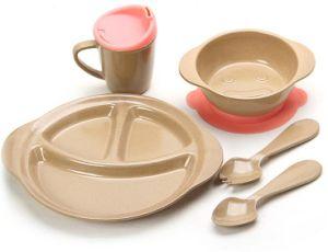 Non-Toxic Rice Husk Fibre Children Tableware Set #1 pictures & photos