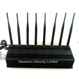 8 Antennas 4G Cell Phone GPS WiFi Signal Jammer UHF VHF Lojack Jammer pictures & photos