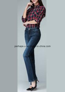 2016 Fashion Straight Denim Ladies Jeans Women Long Pants pictures & photos