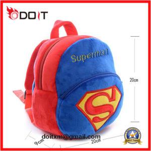 Hot Sale Custom Made Boys Superman Soft Plush School Bag pictures & photos