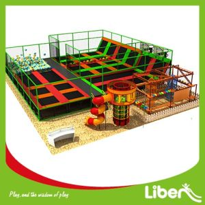 colorful Trampoline Place with Rope Course pictures & photos