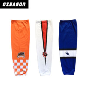 Wholesale Custom Sublimation Breathable Mesh Reversible Ice Hockey Socks (H019) pictures & photos