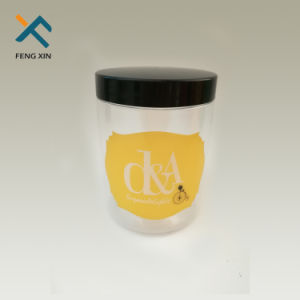 Custom Cosmetic Packing Clear 100g Plastic Jar with Cap pictures & photos