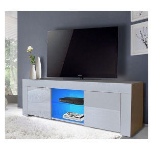 High Gloss Drawer Shelf LED Lighting TV Stand Unit pictures & photos