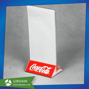 A5 Menu Angled Counter Poster Display Stand pictures & photos