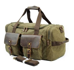 Leather Canvas Overnight Travel Weekend Tote Duffel Luggage Bag pictures & photos