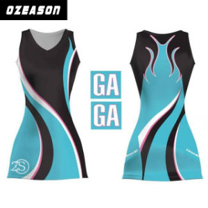 OEM Service Customized Women Sexy Sublimated Netball Bodysuits (N012) pictures & photos