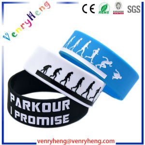 Fashion Rubber Bracelet Custom Silicon Wristband for Gift pictures & photos