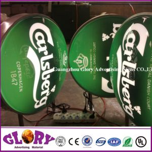Advertising Aluminum Frame Round Vacuum Formed Beer Light Box Sign pictures & photos