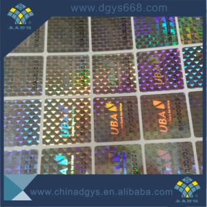 Custom Large Size Hologram Label Sticker with Letter in Roll pictures & photos
