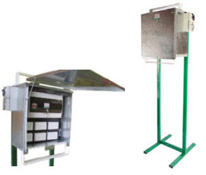 Weatherproof Metal Meter Box for Temporary Power Sites pictures & photos