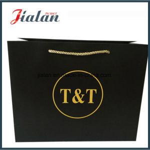 Wholesales Black Logo Printed Custom Kraft Paper Bag pictures & photos