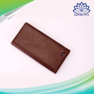 Genuine Leather USB Charging Smart Wallet for Cellphone Soft Cow Leather Long Bluetooth Wallets Anti Lost Selfie Purse pictures & photos