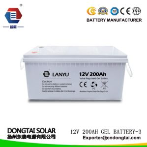 200ah Gel Type 12V Solar Battery pictures & photos