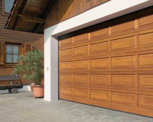 Polyurethane Foam Aluminium Profile Exterior Sectional Garage Door (Hz-FC0271) pictures & photos
