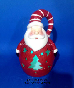 Color-Changing LED Lighted Ceramic Snowman for Christmas Decoration pictures & photos
