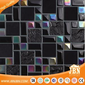 Hot Sale! Black Color Wall Tile Mesh-Mounted Glass Mosaic (M855005) pictures & photos
