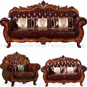 Wood Sofa for Home Furniture and Hotel Furniture (929W) pictures & photos