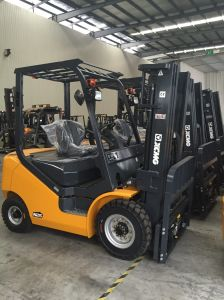 XCMG 2.5 Ton Xinchai Engine Triplex Mast Reliable Diesel Forklift pictures & photos