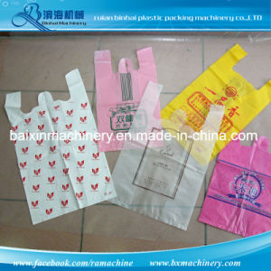 High Speed Plastic T-Shirt Bag Cutting Machine pictures & photos