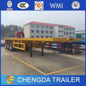 3axle 40feet 20feet Container Flatbed Semi Trailer for Sale pictures & photos